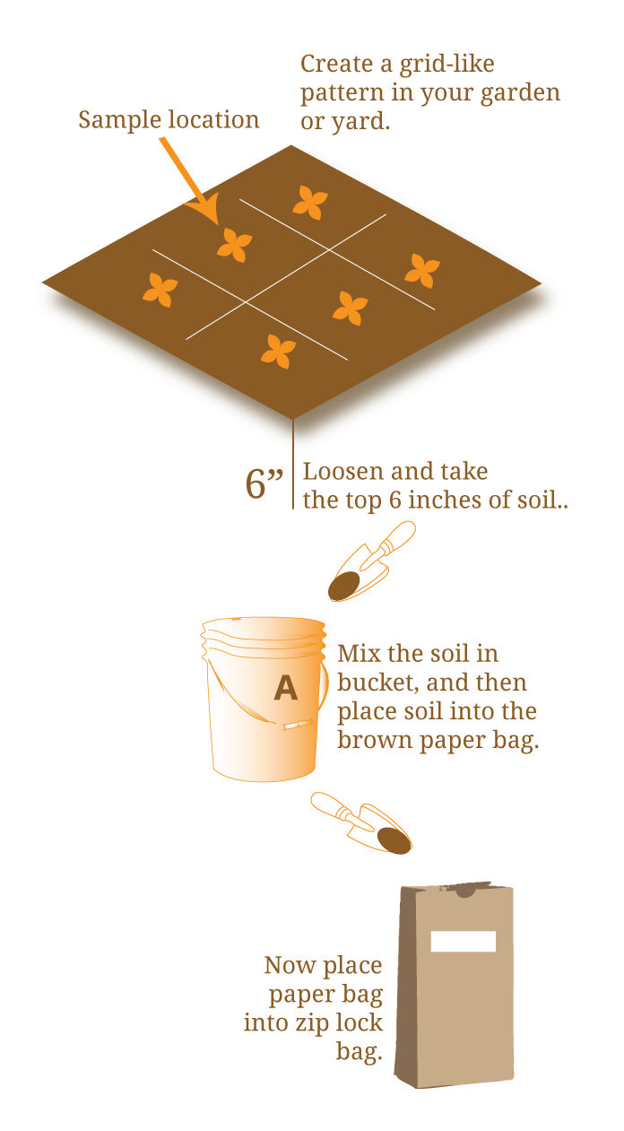 Illustration of soil collection techniques